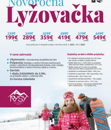 Užite si novoročnú lyžovačku v Tatrách v hoteli RYSY (2.1.-9.1.2022)
