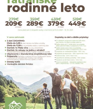 Tatranské rodinné leto (15.6.-15.10.2021)